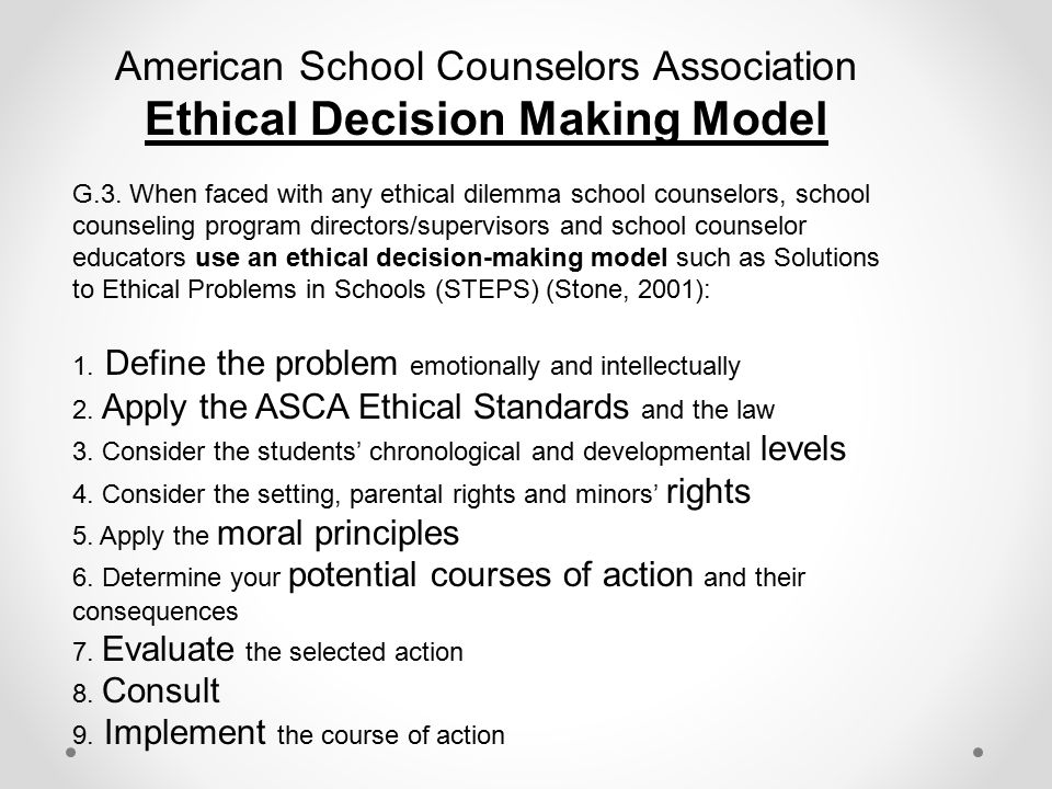 Ethical Dilemmas in Counseling