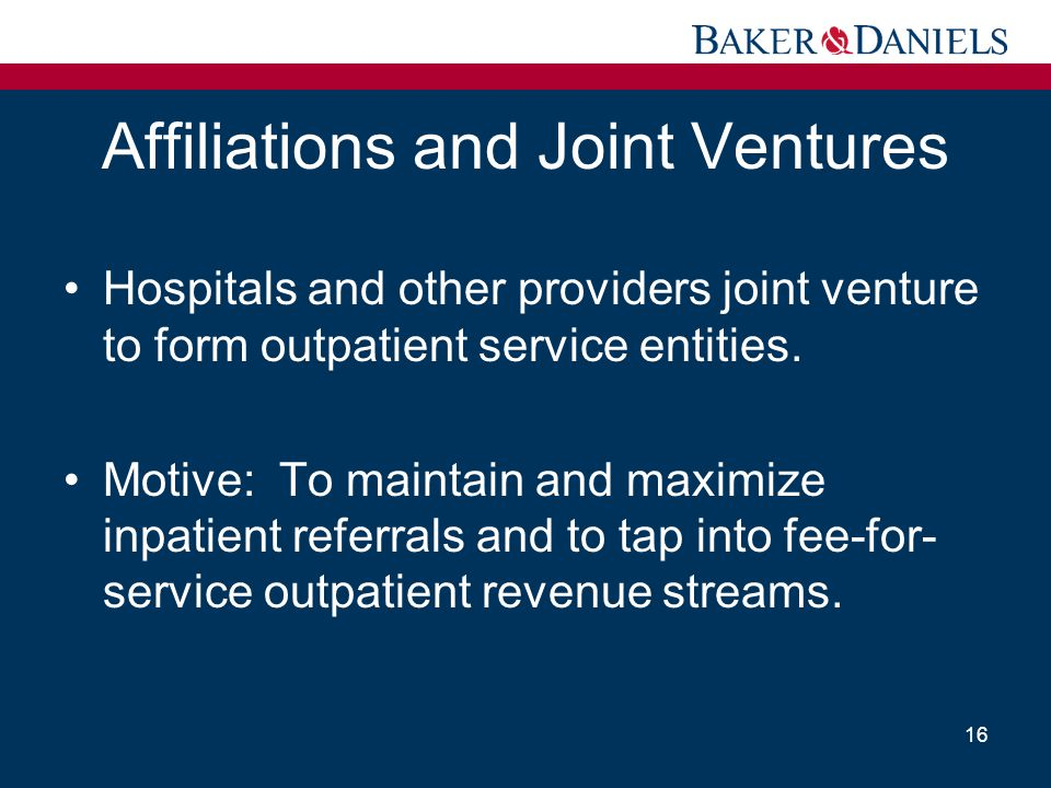 Affiliations and Joint Ventures