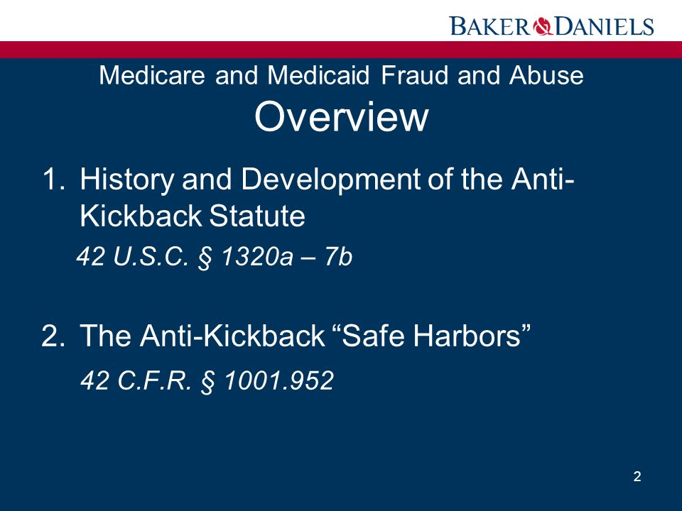 Medicare and Medicaid Fraud and Abuse Overview