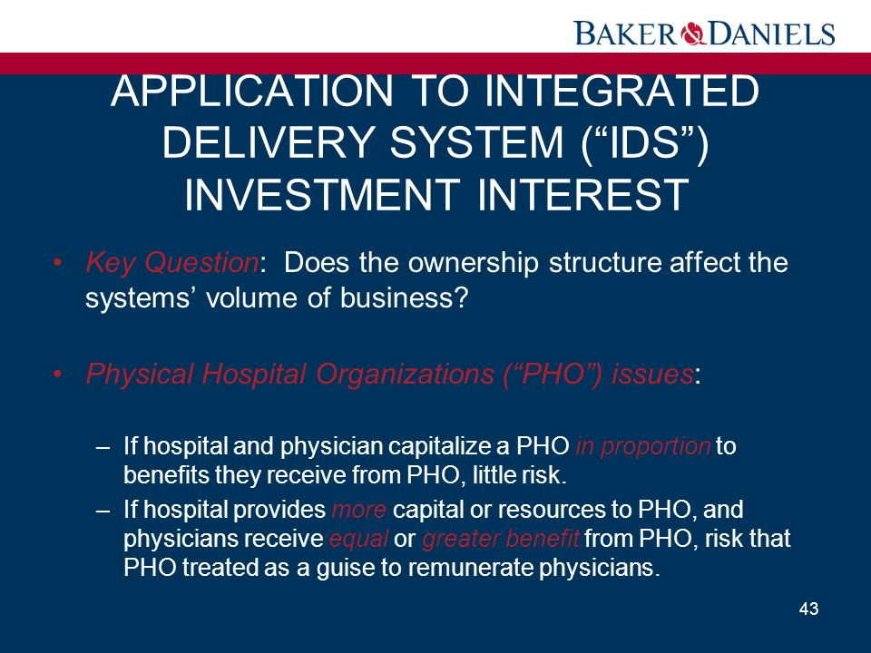 APPLICATION TO INTEGRATED DELIVERY SYSTEM ( IDS ) INVESTMENT INTEREST