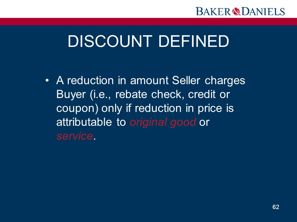 DISCOUNT DEFINED