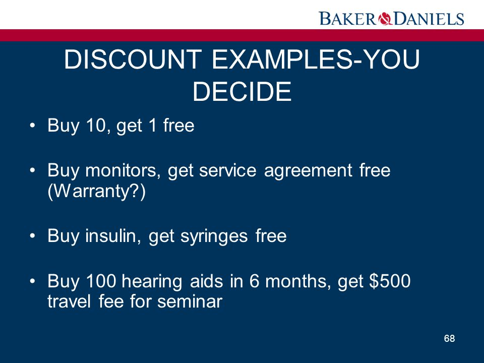 DISCOUNT EXAMPLES-YOU DECIDE