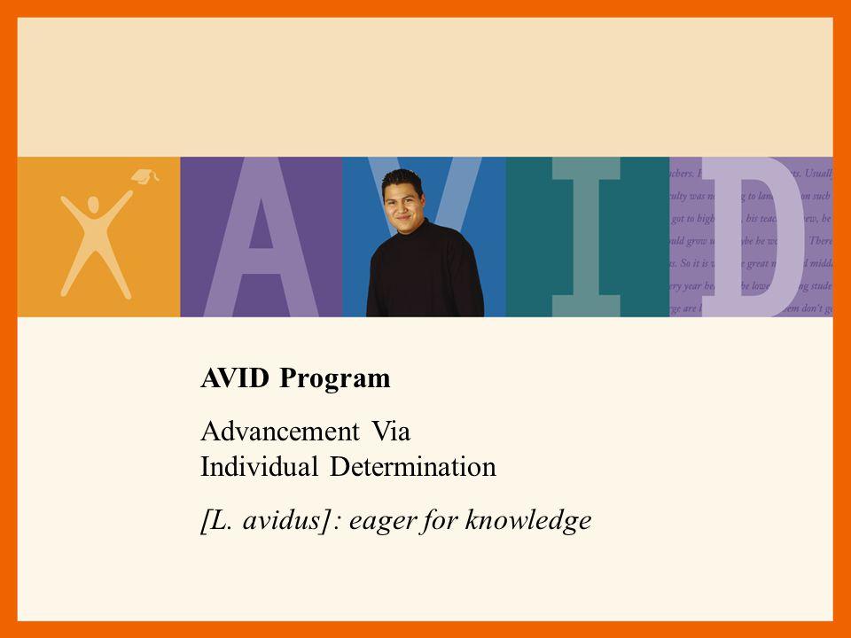 AVID Program Advancement Via Individual Determination.