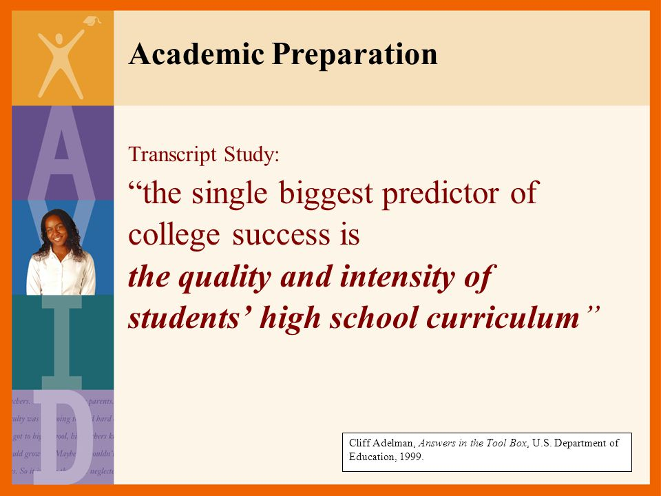 Academic Preparation