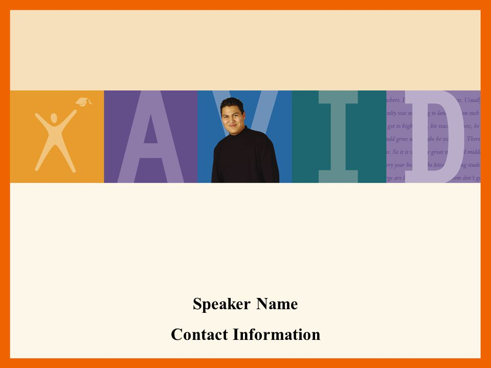 Speaker Name Contact Information