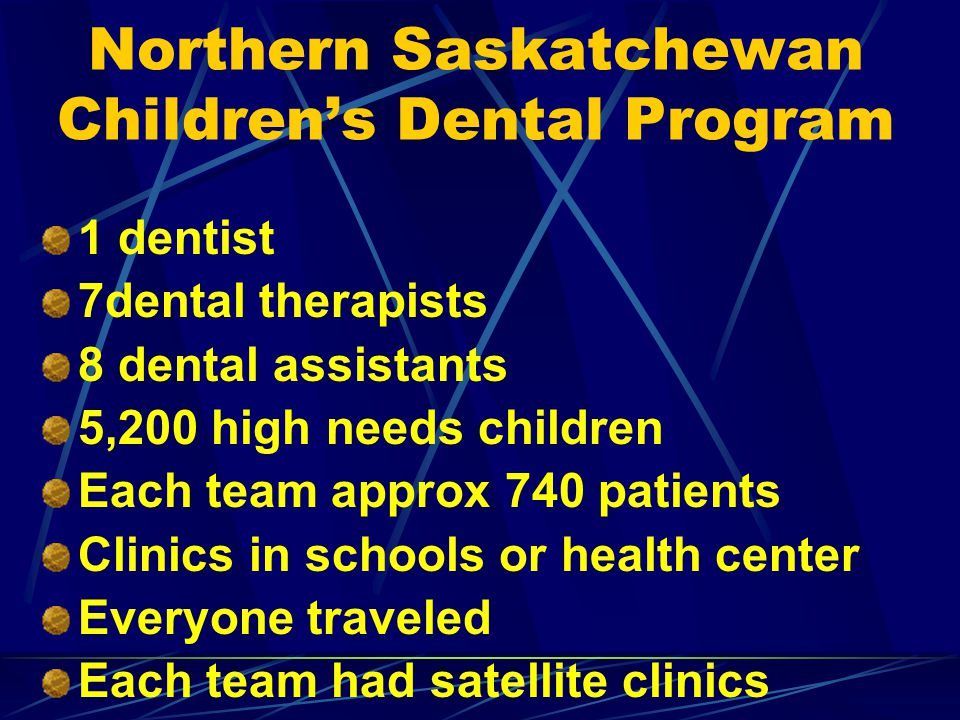 Northern Saskatchewan Children's Dental Program