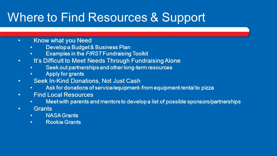 Where to Find Resources & Support