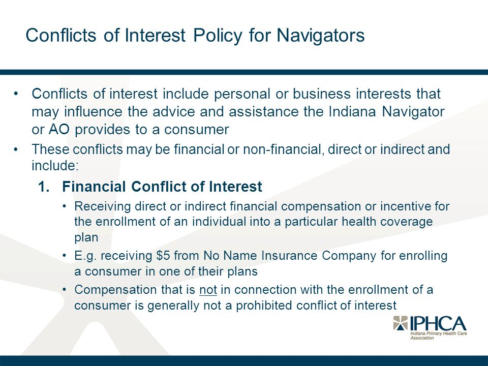 Conflicts of Interest Policy for Navigators