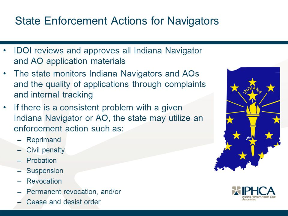 State Enforcement Actions for Navigators