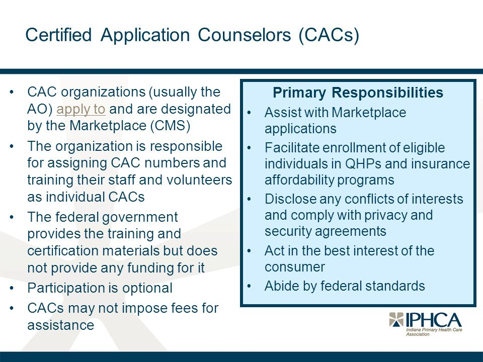 Certified Application Counselors (CACs)