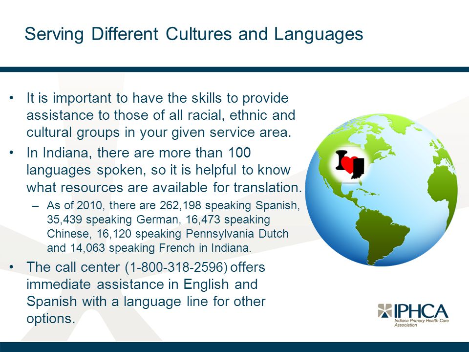 Serving Different Cultures and Languages