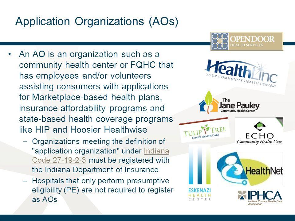 Application Organizations (AOs)