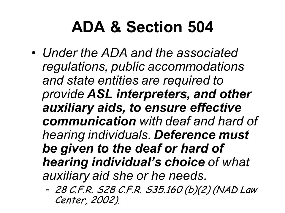 ADA & Section 504