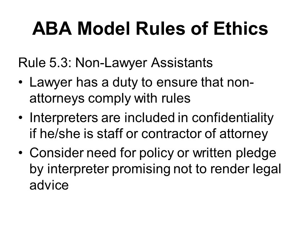 ABA Model Rules of Ethics