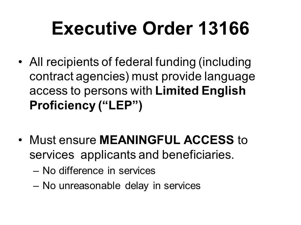 Executive Order 13166