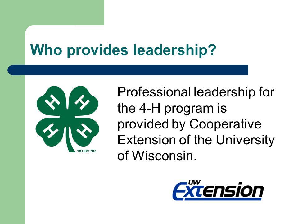 Who provides leadership