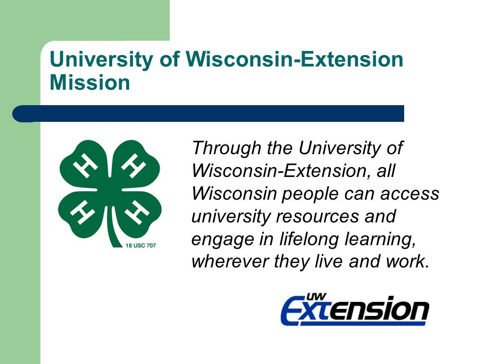 University of Wisconsin-Extension Mission