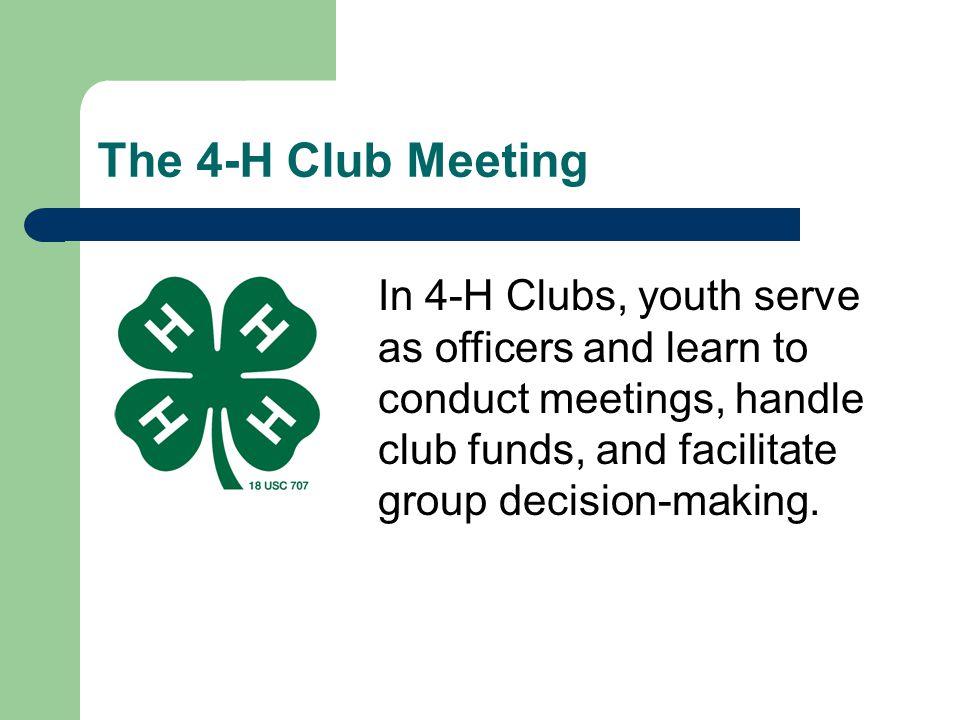 * 07/16/96. The 4-H Club Meeting.