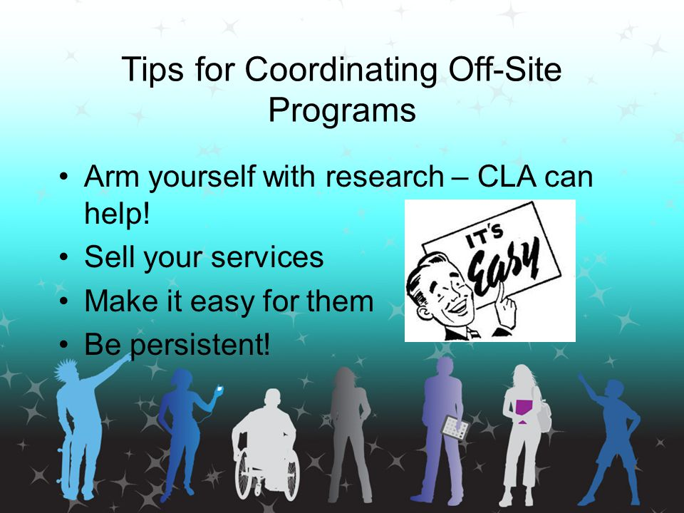 Tips for Coordinating Off-Site Programs