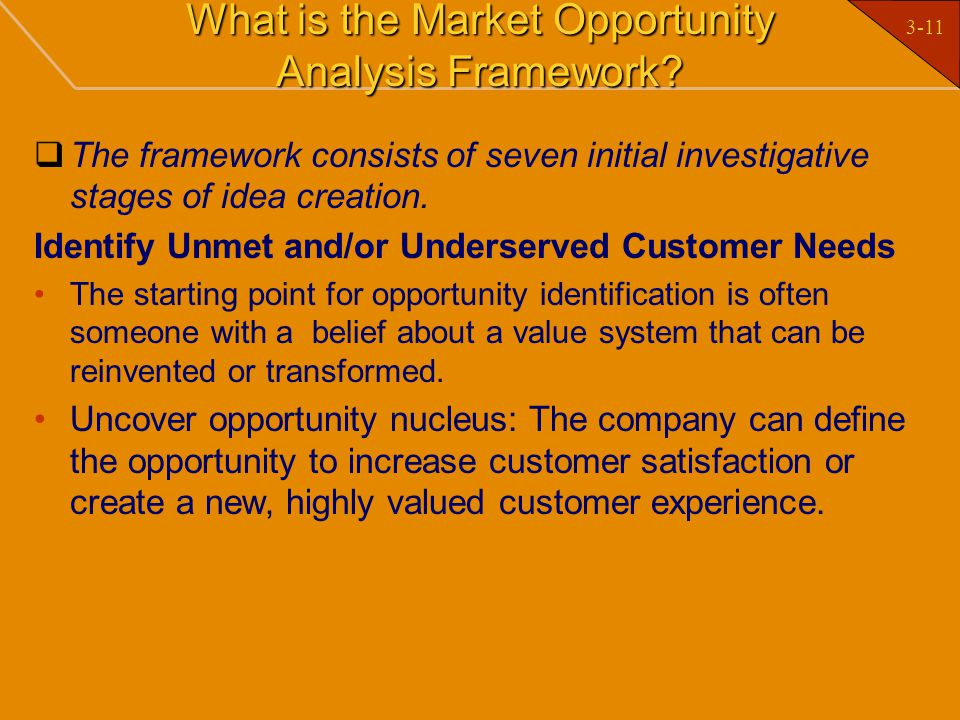 What is the Market Opportunity Analysis Framework