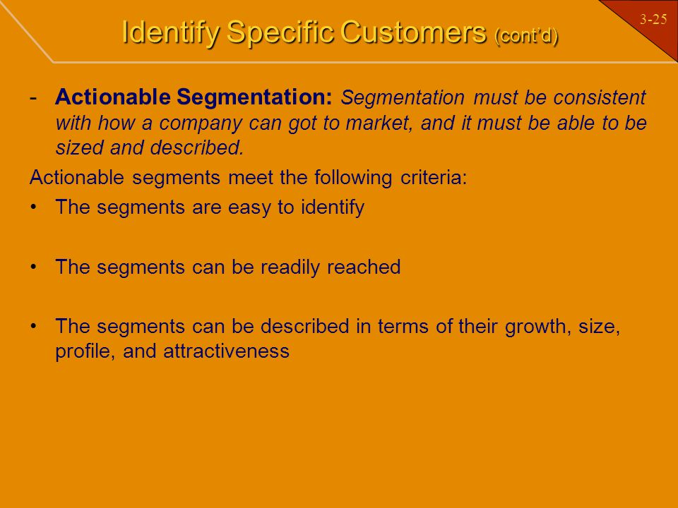 Identify Specific Customers (cont'd)