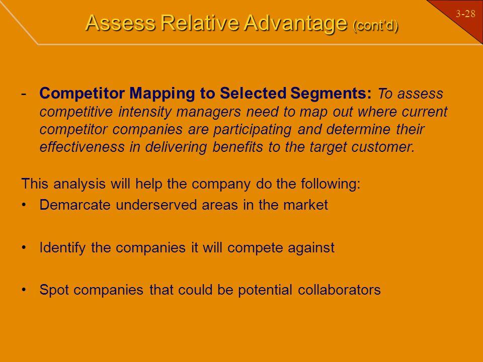 Assess Relative Advantage (cont'd)
