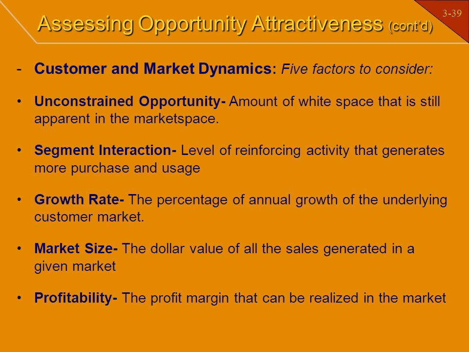 Assessing Opportunity Attractiveness (cont'd)