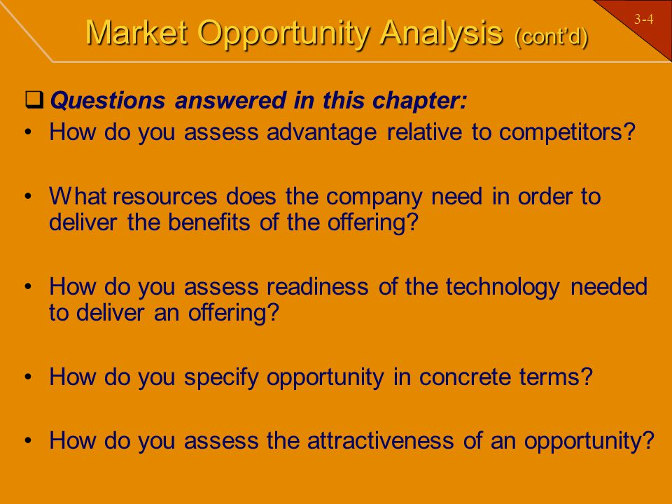 Market Opportunity Analysis (cont'd)