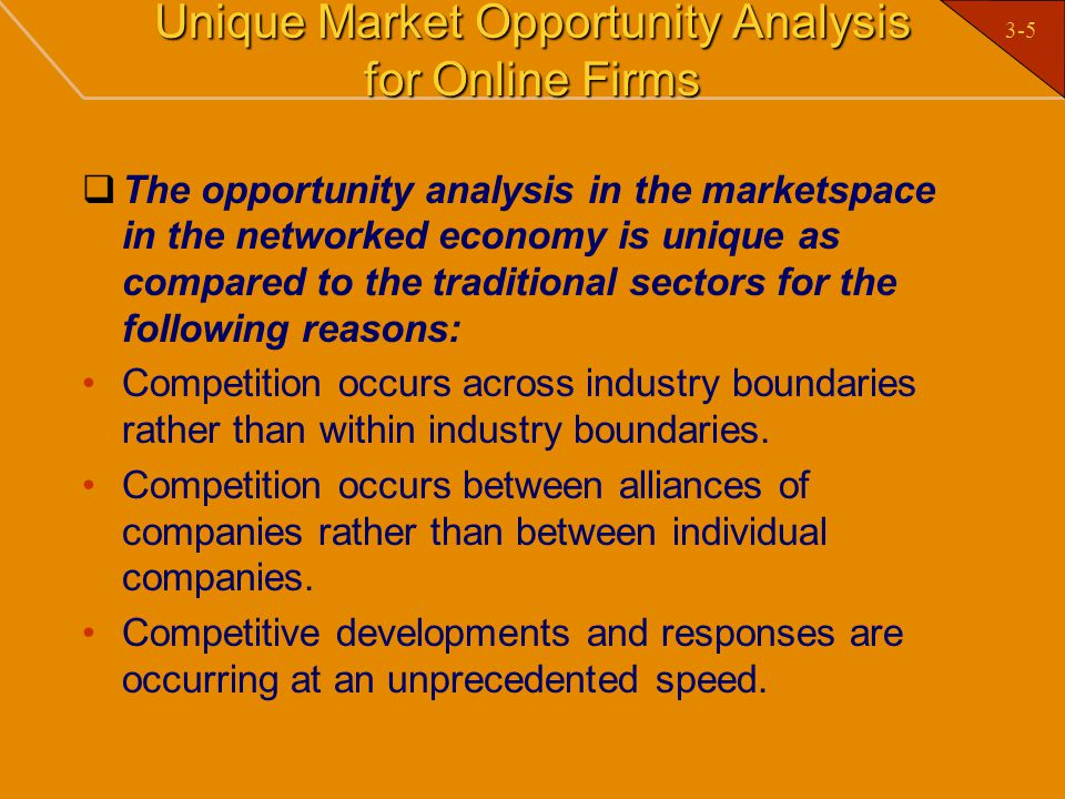Unique Market Opportunity Analysis for Online Firms