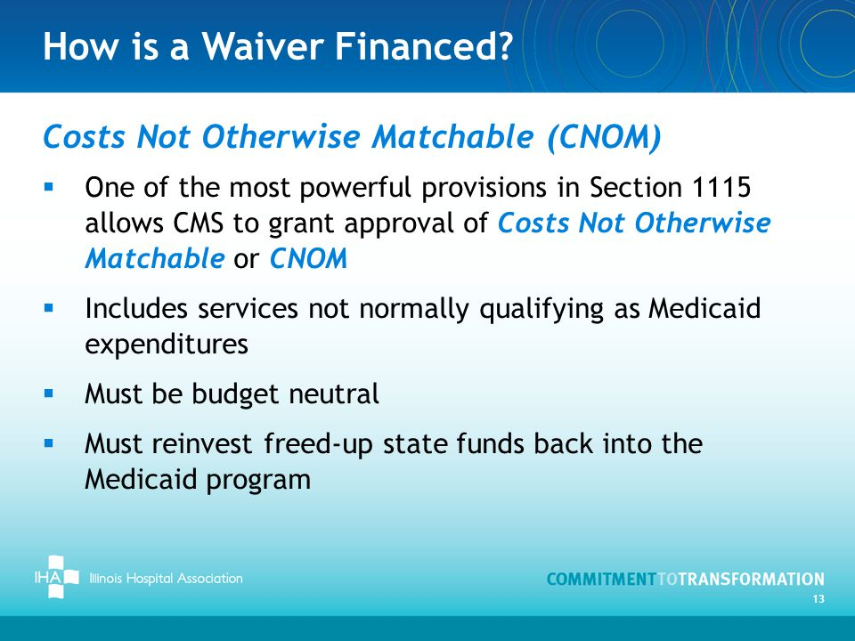 How is a Waiver Financed