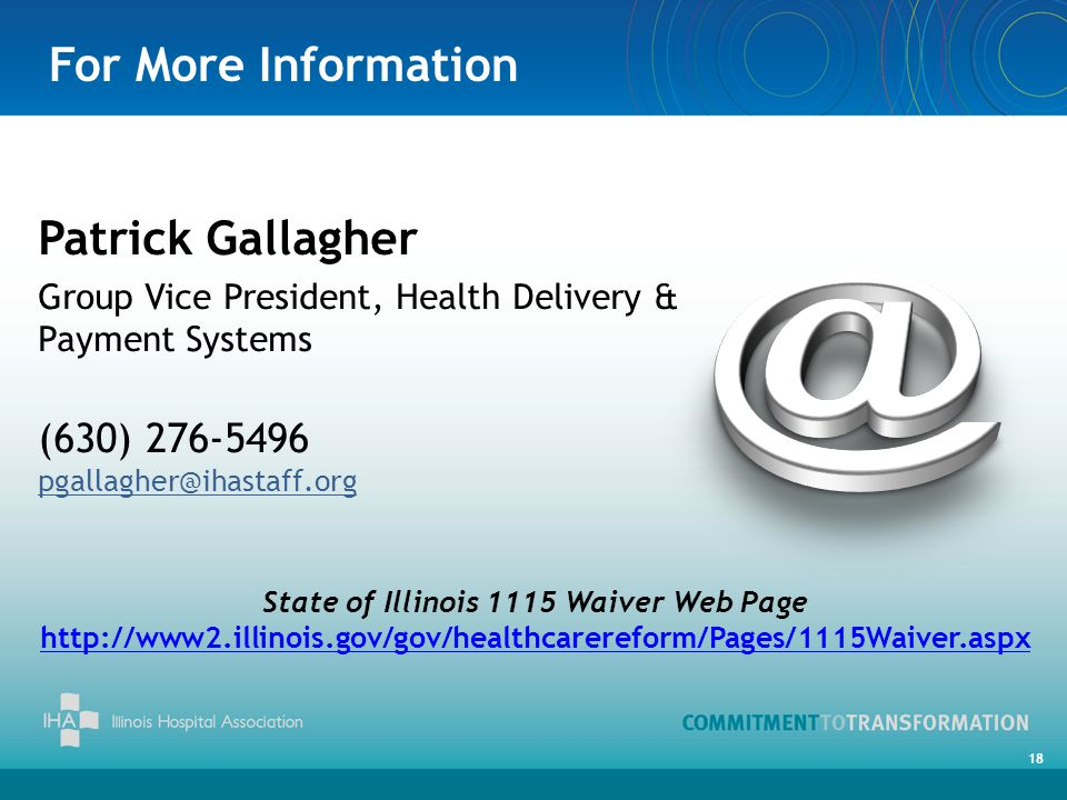 State of Illinois 1115 Waiver Web Page