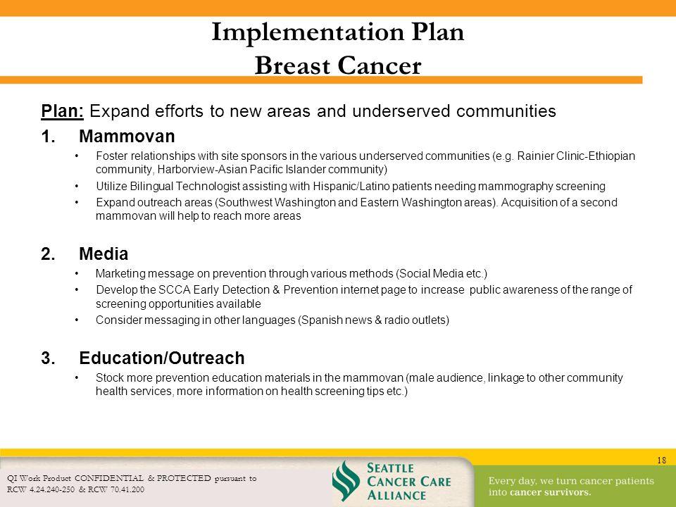 Implementation Plan Breast Cancer
