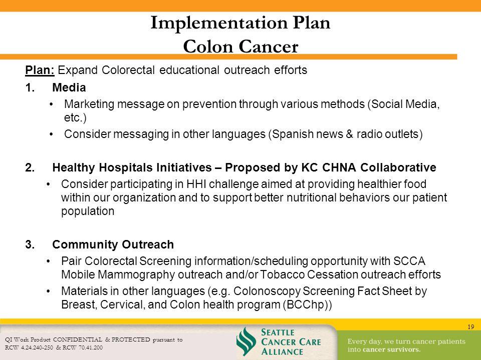 Implementation Plan Colon Cancer