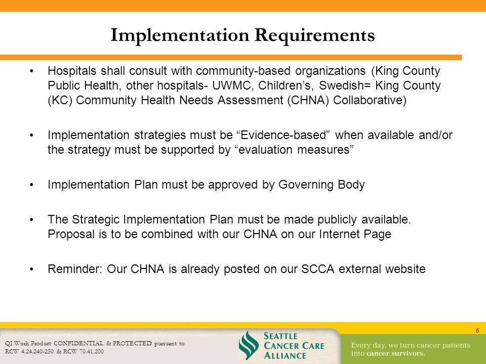 Implementation Requirements