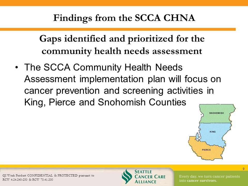 Findings from the SCCA CHNA
