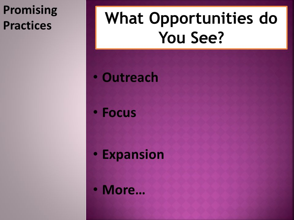 What Opportunities do You See