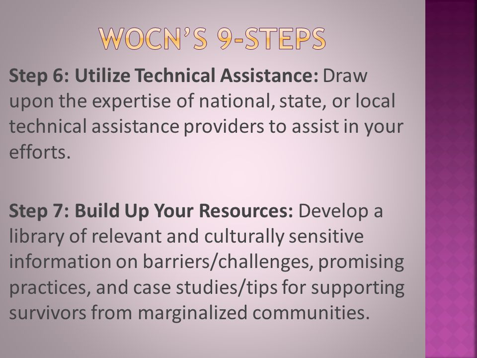 WOCN'S 9-STEPS