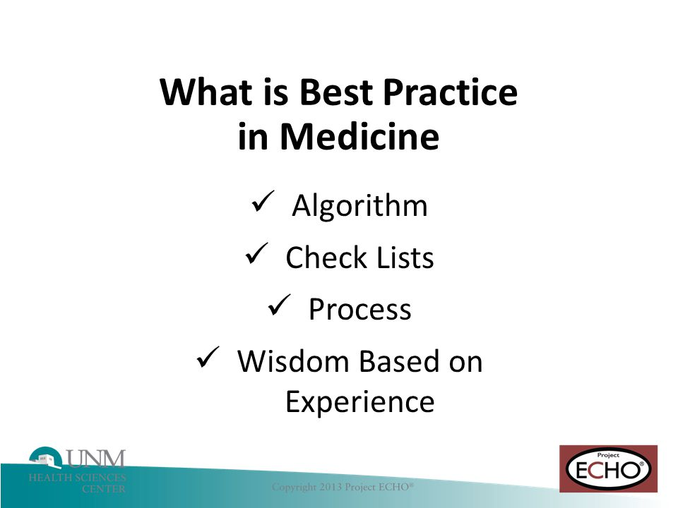 What is Best Practice in Medicine