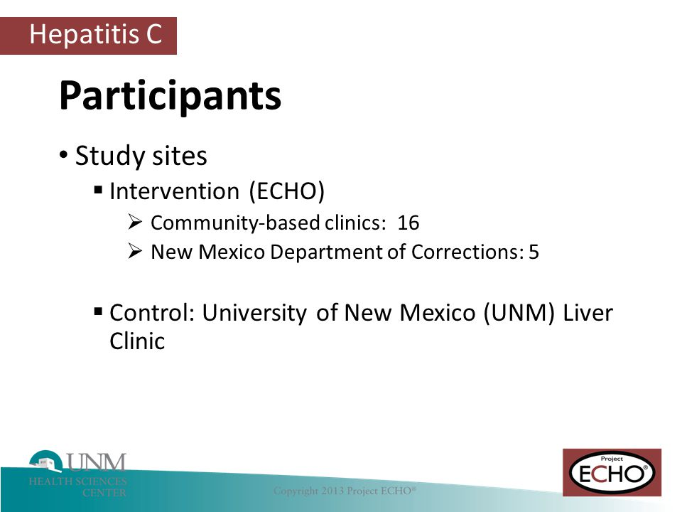 Participants Study sites Intervention (ECHO)