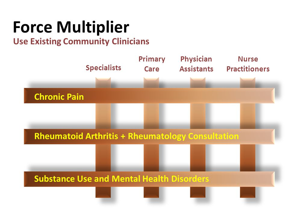 Force Multiplier Use Existing Community Clinicians Chronic Pain