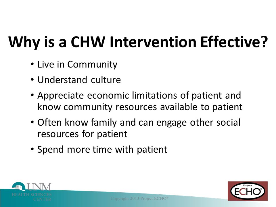 Why is a CHW Intervention Effective