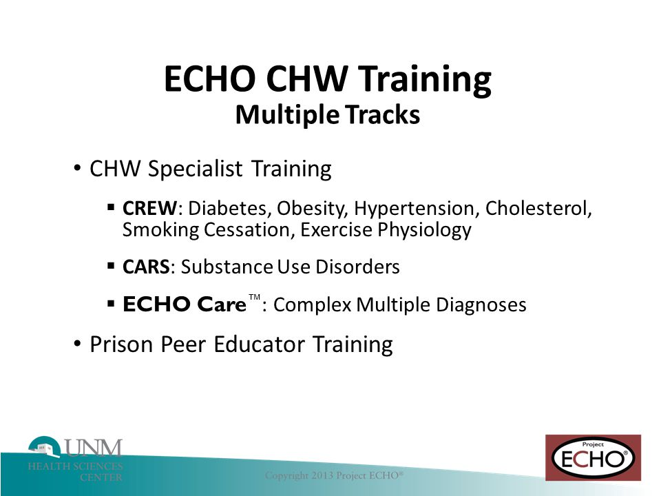 ECHO CHW Training Multiple Tracks