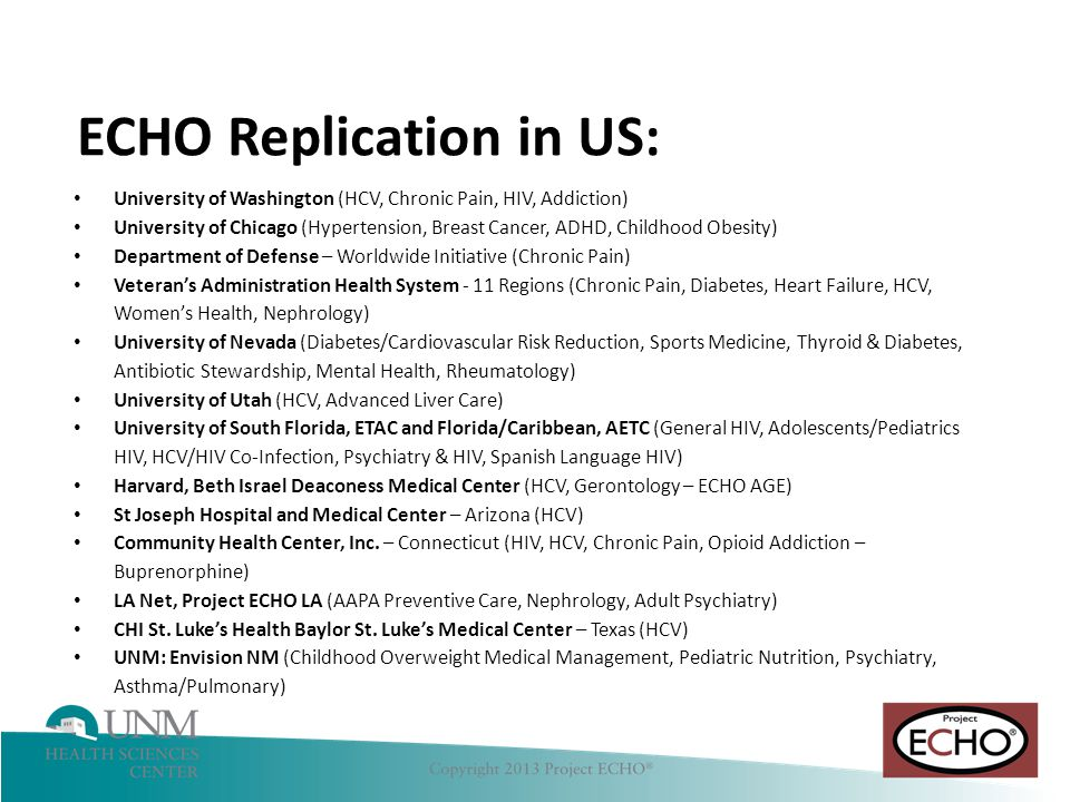 ECHO Replication in US: