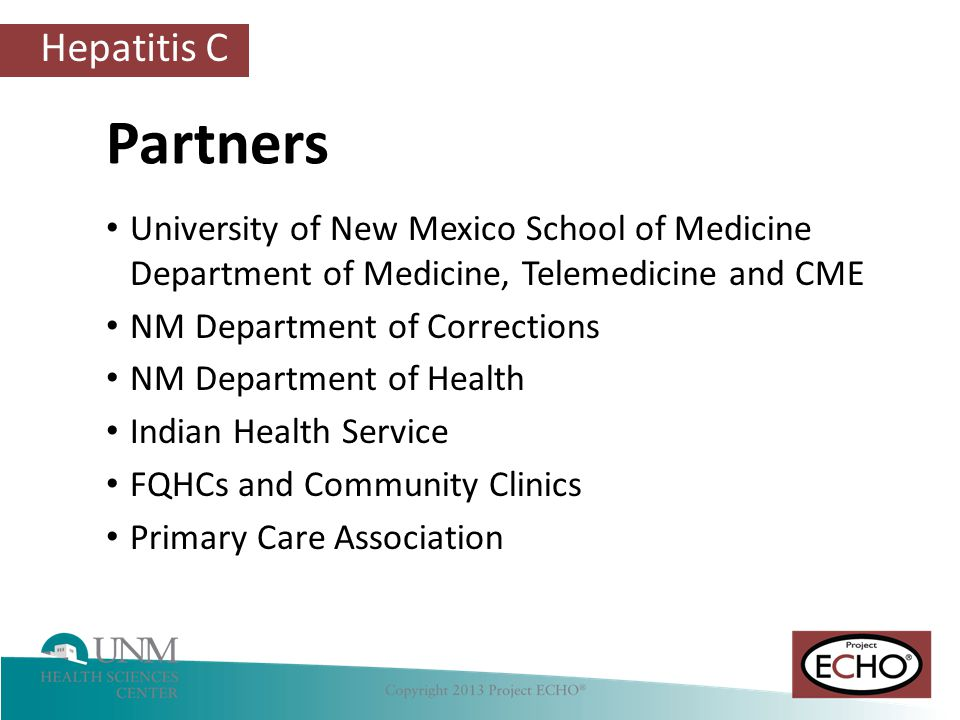 Partners University of New Mexico School of Medicine Department of Medicine, Telemedicine and CME.