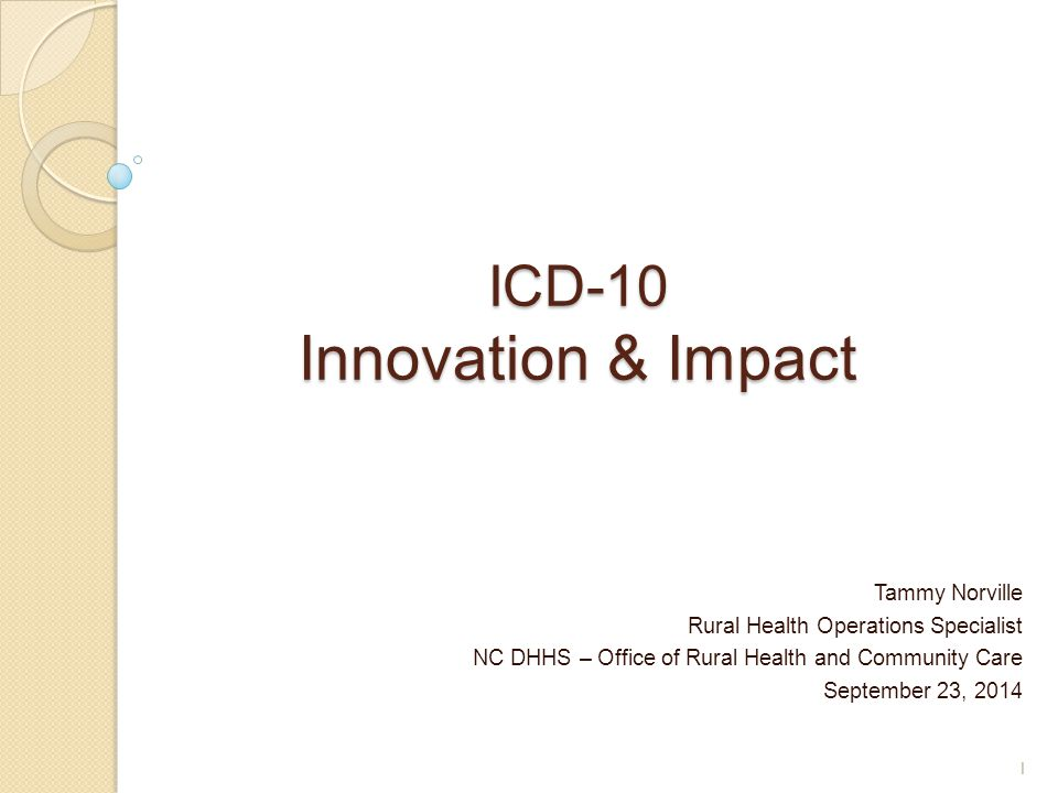 ICD-10 Innovation & Impact