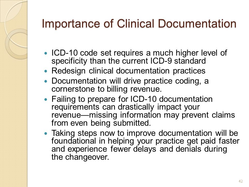 Importance of Clinical Documentation