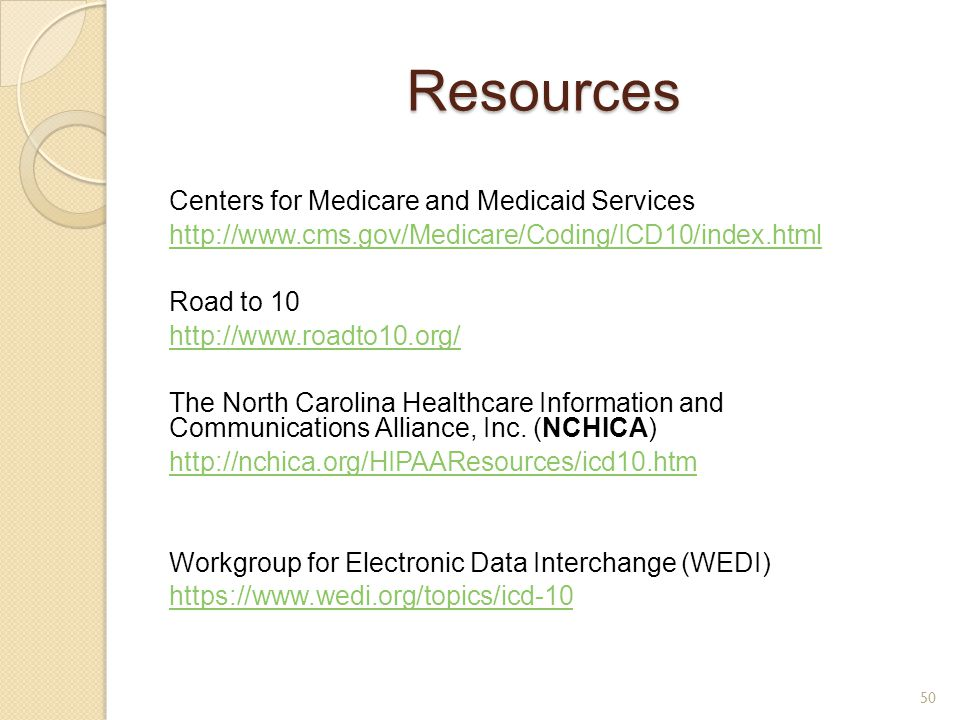 Resources Centers for Medicare and Medicaid Services