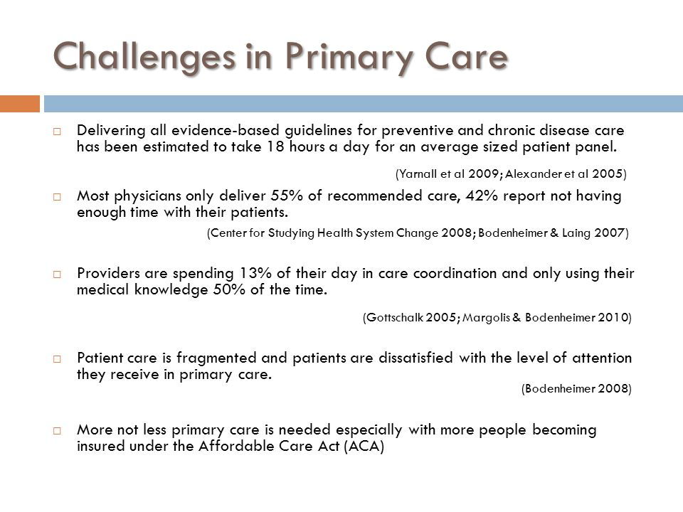 Challenges in Primary Care