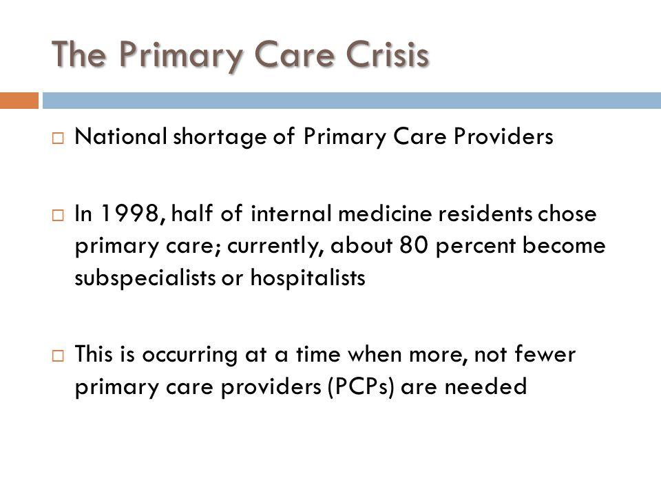 The Primary Care Crisis
