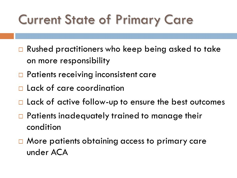 Current State of Primary Care